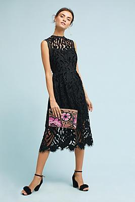 Slide View: 1: Shoshanna Floral Lace Dress