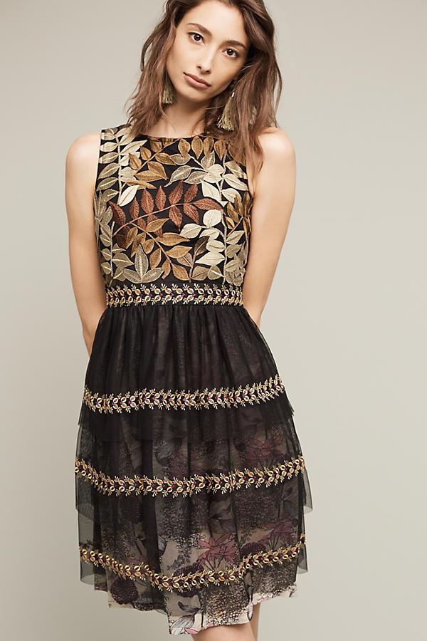 Embroidered Vigne Dress