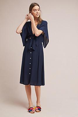 Slide View: 1: Faithfull Market Tie-Front Dress