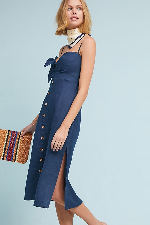Slide View: 3: Faithfull Linen Midi Dress