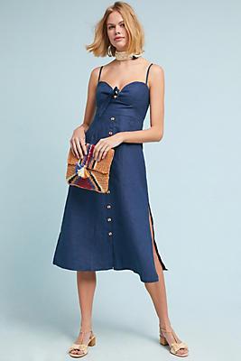 Slide View: 1: Faithfull Linen Midi Dress