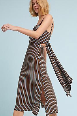 Slide View: 1: Faithfull Striped Bow-Back Dress