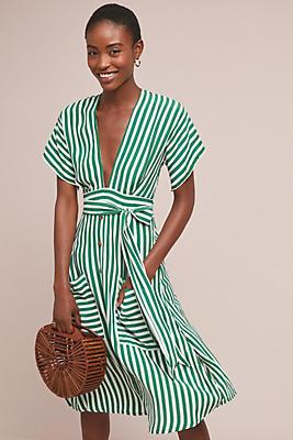 Slide View: 1: Faithfull Nancy Striped Shirtdress