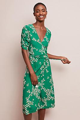 Slide View: 1: Faithfull Estelle Floral Wrap Dress