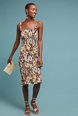 Slide View: 1: Faithfull Smocked Linen Dress