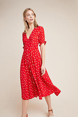 Slide View: 1: Faithfull Jeanne Midi Dress