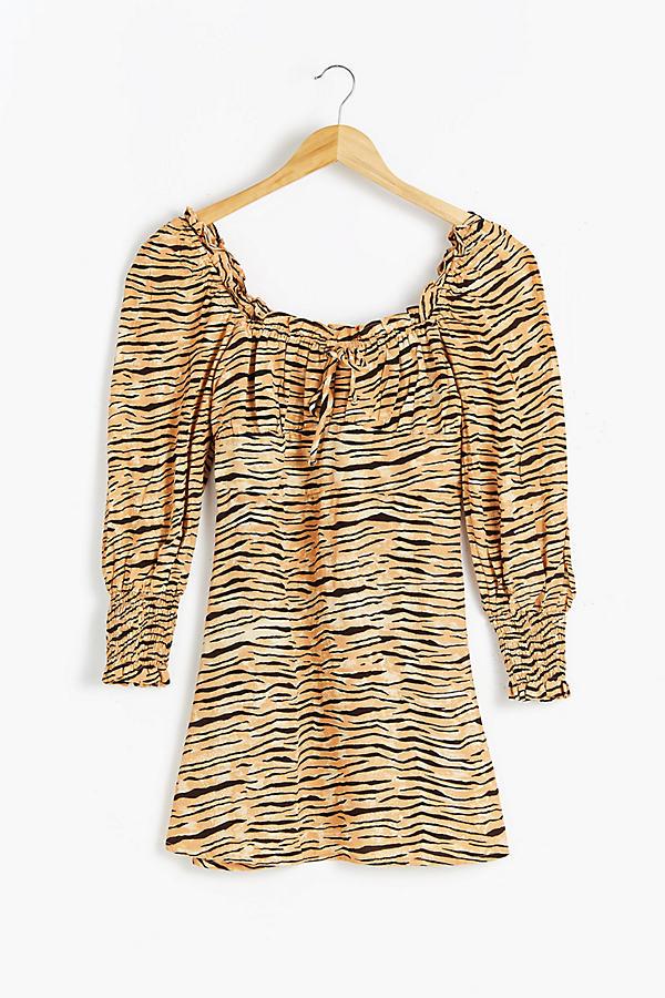 Faithfull The Brand Ira Tiger-Print Mini Dress