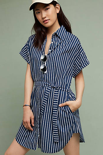 Avalon Striped Shirtdress