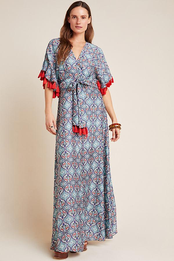 Sachin & Babi Risa Tasselled Maxi Dress - Assorted, Size Uk 16
