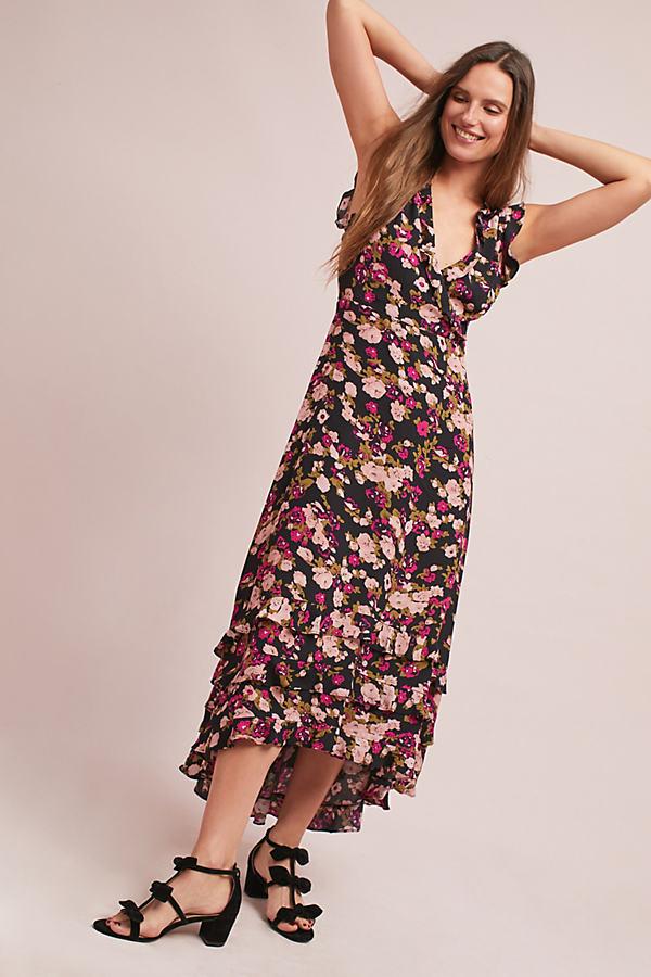 Gaia Ruffled Dress - Raspberry, Size L