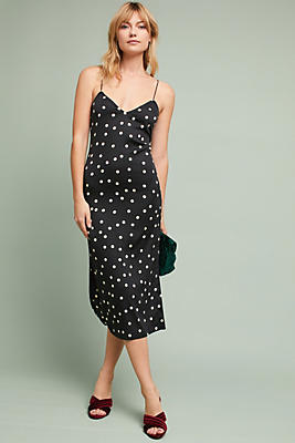Slide View: 1: Polka Dotted Slip Dress