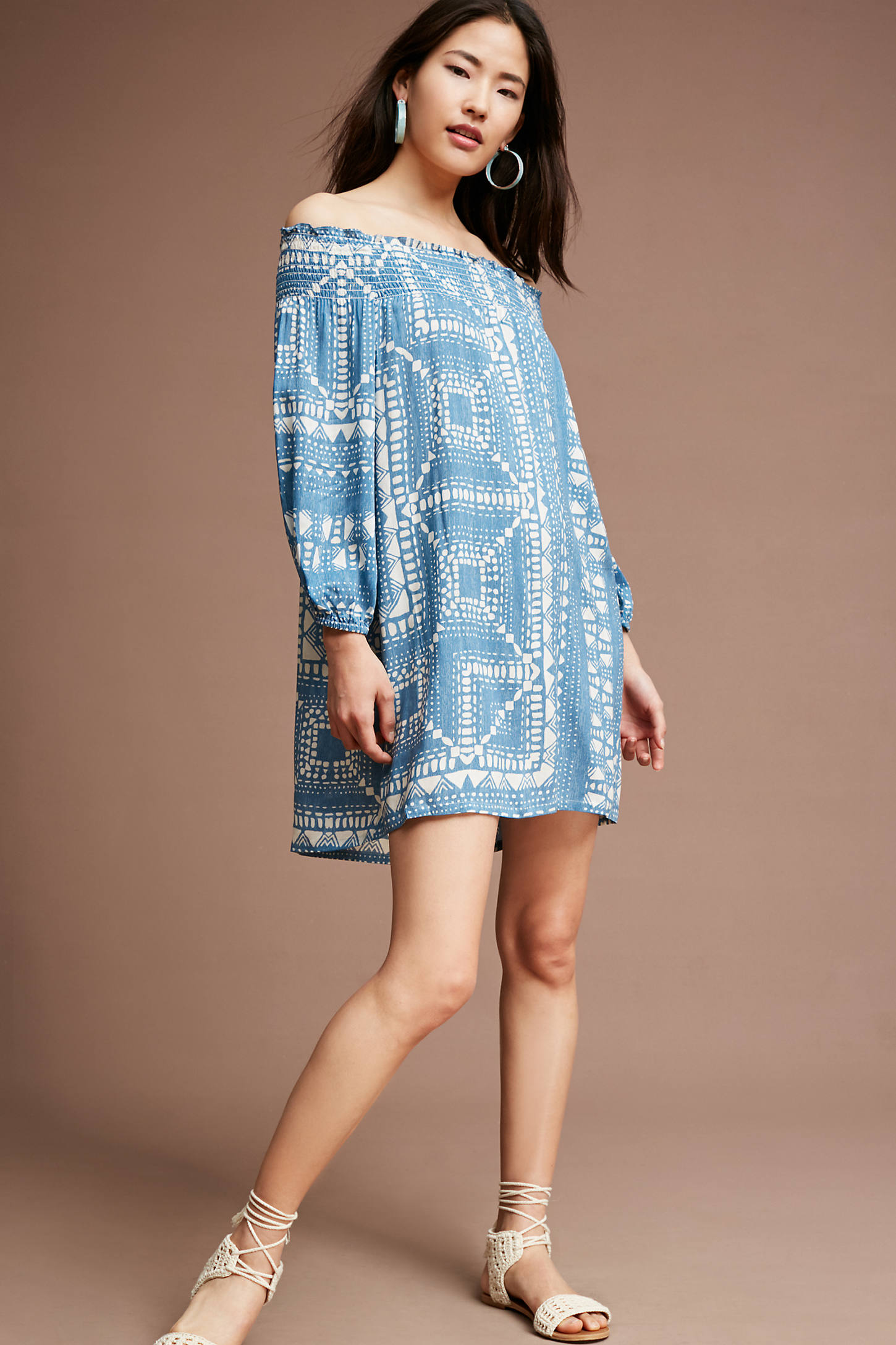 Boca Off-The-Shoulder Swing Dress