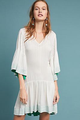 Slide View: 1: Hera Flutter-Sleeve Dress