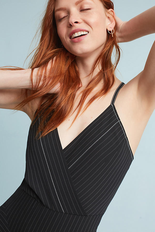 Slide View: 3: Tracy Reese Pinstriped Mini Dress