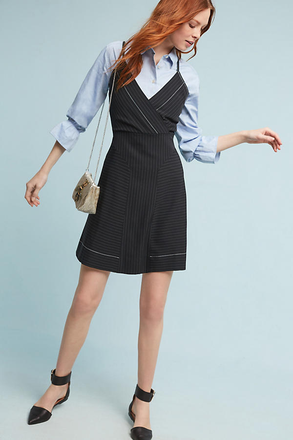 Slide View: 1: Tracy Reese Pinstriped Mini Dress