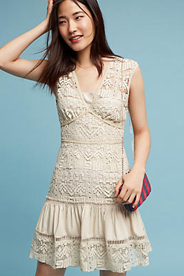Slide View: 1: Rocio Tiered Lace Dress