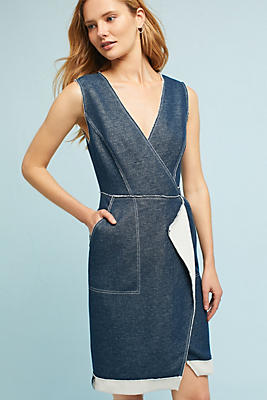 Slide View: 1: Tracy Reese Surplice Denim Dress