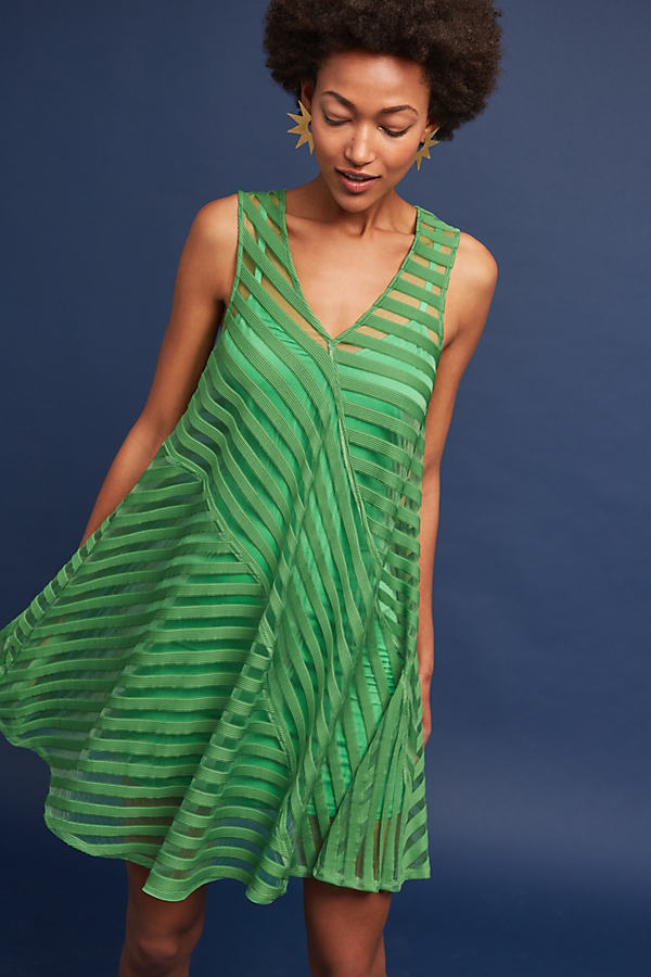 Juneau Burnout Dress, Green - Green, Size S