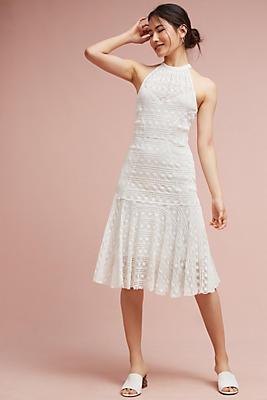 Slide View: 1: Bianca Flounced Midi Dress
