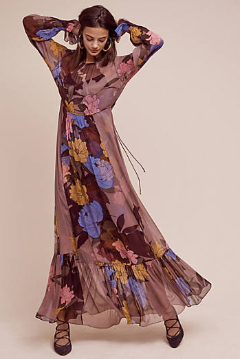 Eudicot Silk Maxi Dress