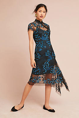 Slide View: 1: Tracy Reese Lace Overlay Dress