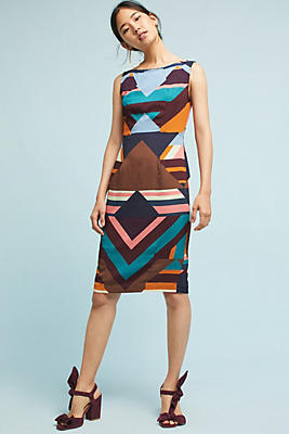 Slide View: 1: Tracy Reese Geo Silk Dress