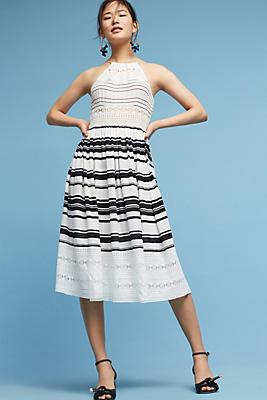 Slide View: 1: Georgiana Silk Midi Dress