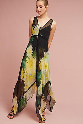 Slide View: 1: Claudia Silk Maxi Dress