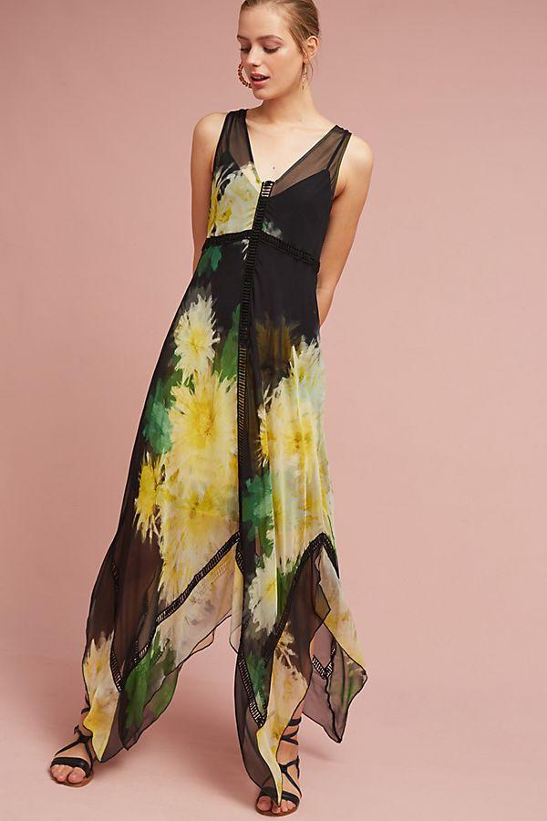 Tracy Reese Claudia Silk Maxi Dress