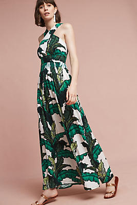 Slide View: 1: Palm Halter Dress