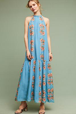 Slide View: 1: Neoma Silk Maxi Dress