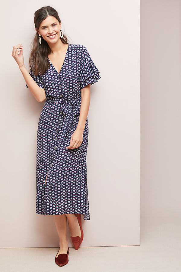 Kachel Ruffled Floral-Print Dress - Assorted, Size Uk 6