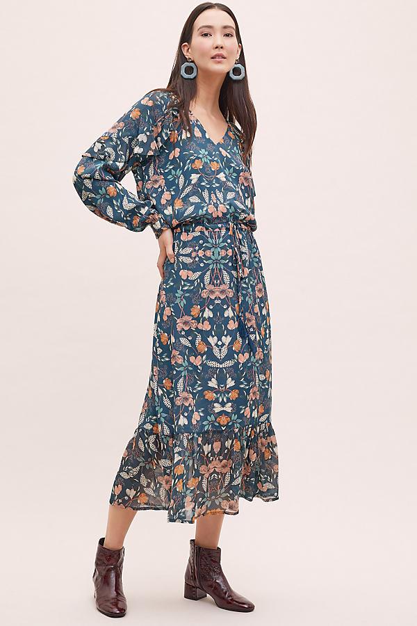 Kachel Winter Floral-Print Maxi Dress - Assorted, Size Uk 12