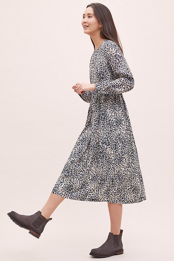 Kachel Leopard-Print Midi Dress - Assorted, Size Uk 6