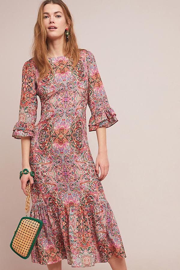 Kachel Karlotta Printed Dress - Pink, Size Uk 14