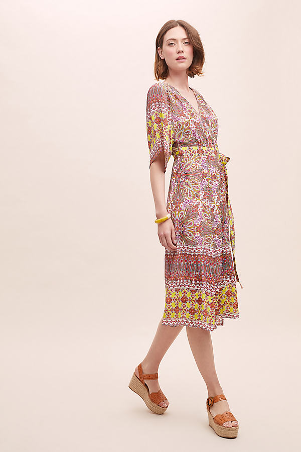 Kachel Ricki Geometric-Print Wrap Dress - Assorted, Size Uk 12