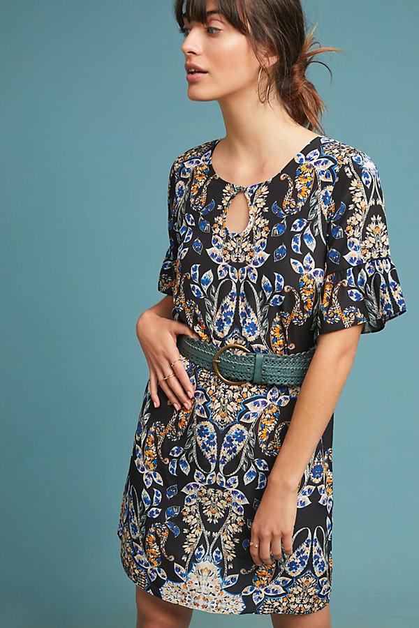 Kachel Amela Printed Silk Tunic Dress - Assorted, Size Uk 14