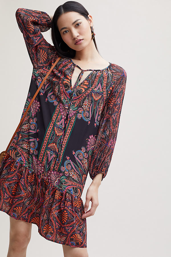 Kachel Einry Printed-Silk Dress - Assorted, Size Uk 8