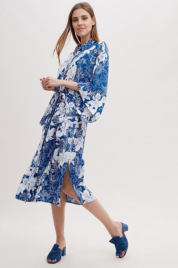 Kachel Brita Floral Kimono - Navy, Size Uk 16