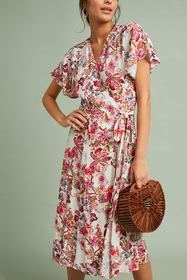 Kachel Aleydi Printed Wrap Dress by Kachel