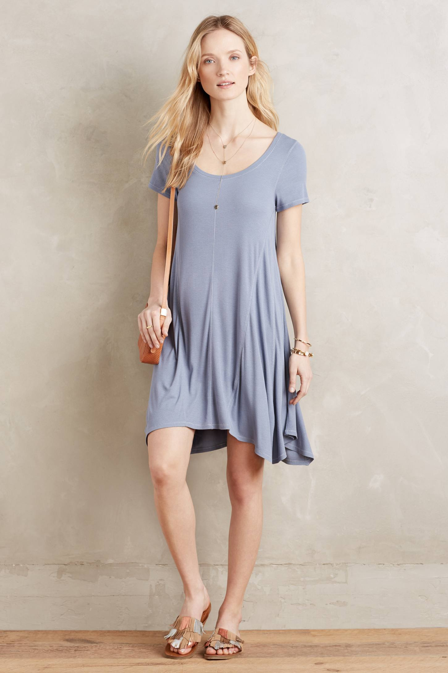 Ribbed Day Dress