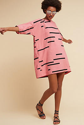Slide View: 1: Pink Graphic Tunic Dress