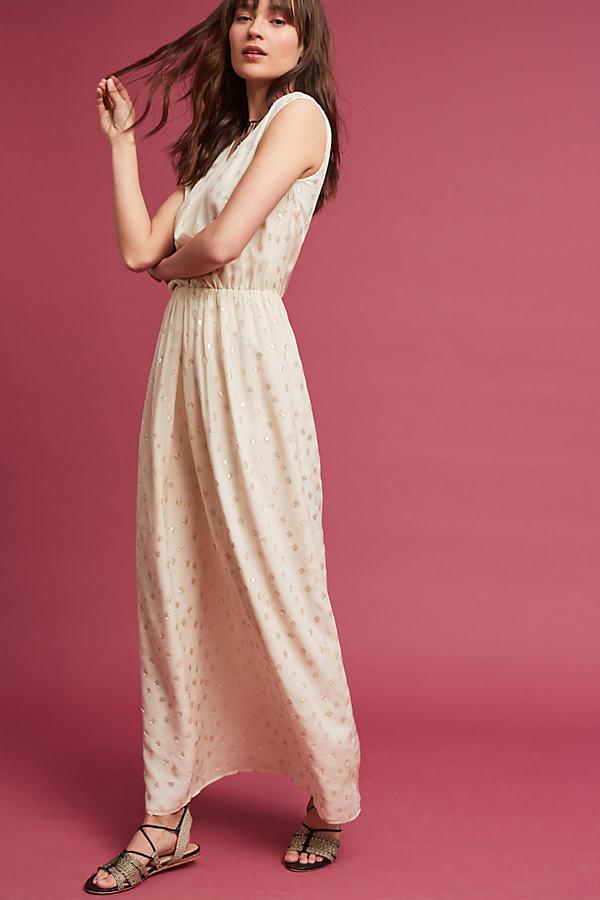 Jolina Silk Maxi Dress, Ivory - Ivory, Size Xs