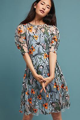 Slide View: 1: Aida Embroidered Dress