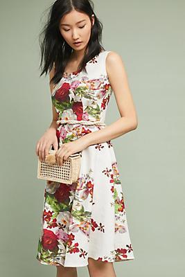 Slide View: 1: Linen Garden Dress