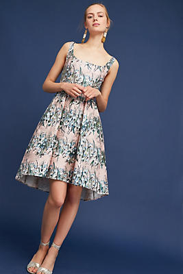 Slide View: 1: Floral Jacquard Dress
