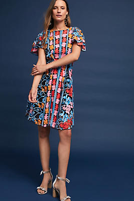 Slide View: 1: Ferrah Embroidered Dress