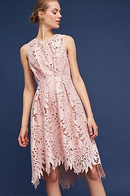 Slide View: 1: Palm & Lace Dress