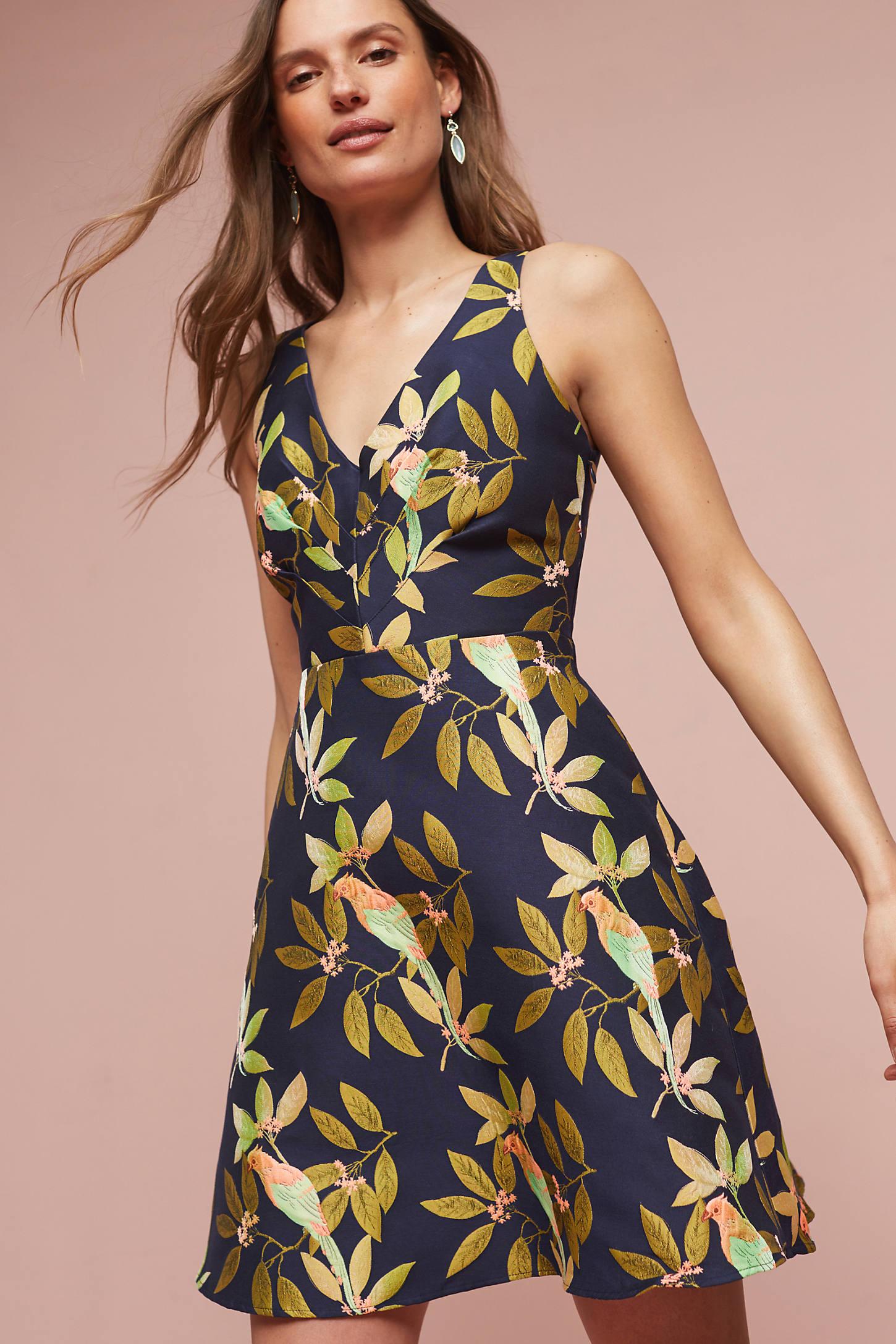 Bird Jacquard Dress