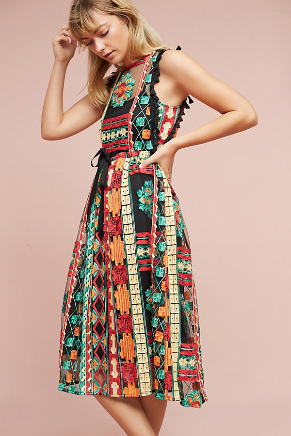 Saskia embroidered dress anthropologie ccuart Images
